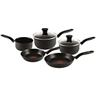 more details on Tefal Non-Stick Hard Anodised Red Spot 5 Piece Pan Set.