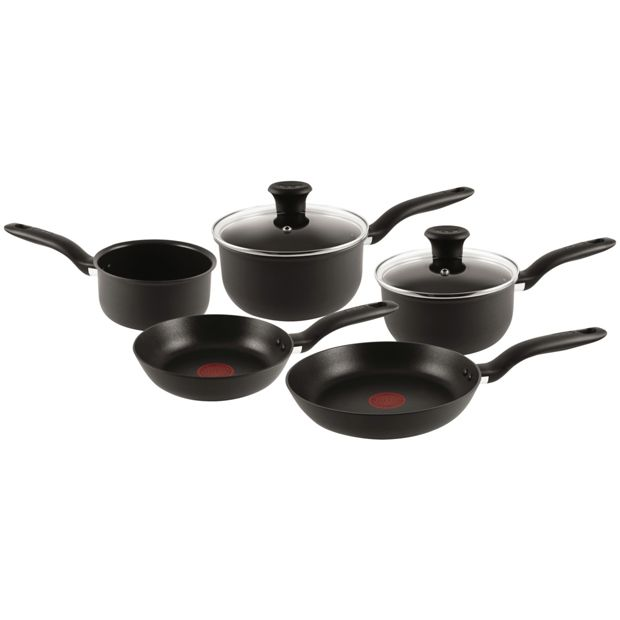 Non Stick Kitchen Set With Price: Buy Tefal 5 Piece Non-Stick Hard Anodised Red Spot Pan Set