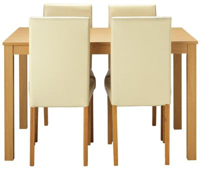 Buy HOME New Elmdon Dining Table and 4 Chairs Oak Stain  : 4818047RSETTMBampwid620amphei620 from www.argos.co.uk size 620 x 620 jpeg 25kB