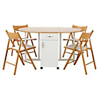more details on Willow Two Tone Folding Dining Table & 4 Folding Chairs.