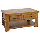 more details on Collection Arizona 2 Drawer 1 Shelf Coffee Table - Pine.