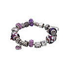more details on Made Up Purple Crystal Charm Bracelet.