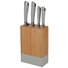 more details on ColourMatch 4 Piece Knife Block Set - Grey.