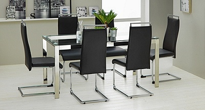 Buy Hygena Apollo Glass Dining Table and 6 Chairs Black  : 4819668RZ001Cfmtpjpgampwid570amphei513 from argos.co.uk size 570 x 513 jpeg 63kB