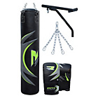 more details on RDX 5ft Punch Bag with Gloves, Chains and Bracket