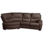 more details on HOME Sorrento Leather Manual Recline Left Corner Sofa - Choc