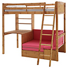 more details on Classic Pine Highsleeper with Sofa & Elliott Mattress.