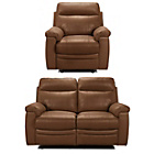 more details on New Paulo Regular Leather Manual Recliner Sofa and Chair-Tan