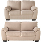 more details on Milano Fabric Sofa Bed and Regular Sofa - Mink.