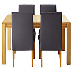 more details on Heart of House Clevedon Ext Table &4 Charcoal Skirted Chairs