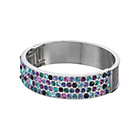 more details on Lipsy Multi Coloured Sparkle Hinged Bangle.