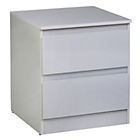 more details on Hygena Inanna 2 Drawer Bedside Chest - White.