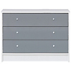 more details on New Malibu Gloss 3 Drawer Wide Chest - Grey.