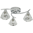 more details on Heart of House Leilani Glass 3 Light Ceiling Light - Silver.