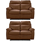 more details on Collection New Paolo Reg and Reg Manual Recliner Sofa - Tan.