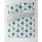 more details on HOME Bloomsbury Blue Bedding Set - Double.