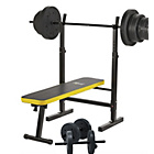 more details on Everlast Folding Workout Bench with 50kg Weights