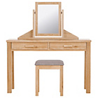 more details on Schreiber Harbury Dressing Table, Mirror & Stool - Oak.