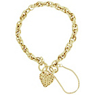 more details on Bracci 9ct Gold Textured Link Heart Bracelet.