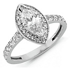 more details on Sterling Silver Cubic Zirconia Marquise Cut Ring.