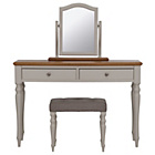 more details on Schreiber Chalbury Dressing Table, Stool & Mirror -White/Oak