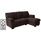 more details on Collection Milano Leather Right Chaise Longue Sofa - Choc.