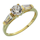 more details on 9ct Gold Cubic Zirconia Baguette Shoulder Ring.