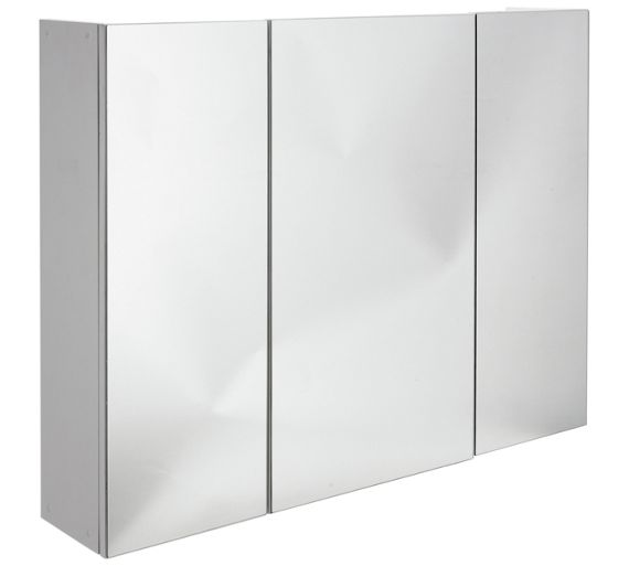 Buy home 3 door mirrored cabinet at your for Argos kitchen cabinets