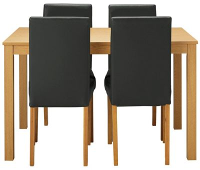 Buy HOME New Elmdon Dining Table and 4 Chairs Oak Stain  : 4825645RSETTMBampwid620amphei620 from www.argos.co.uk size 620 x 620 jpeg 24kB