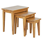 more details on Collection Nest of 3 Tables - Solid Oak.