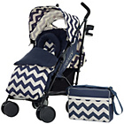 more details on Obaby Zeal Stroller Bundle - ZigZag Navy.