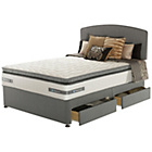 more details on Sealy Repose Pillowtop Memory Superking 4 Drawer Divan.