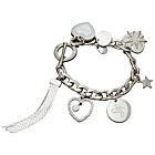 more details on Lipsy Silver Coloured Hearts and Stars Charm Bracelet.