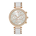 more details on Lipsy Ladies' Silver Dial White and Rose Gold Bracelet Watch