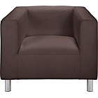 more details on ColourMatch Moda Leather Effect Chair - Chocolate.