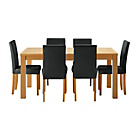 more details on Hemsley Extendable Dining Table & 6 Black Chairs.