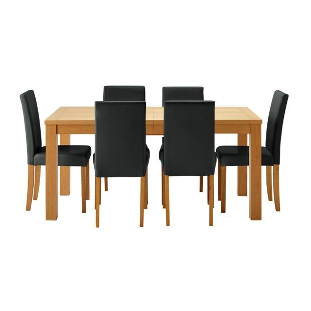 Buy HOME Hemsley Extendable Dining Table And 6 Chairs