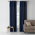 more details on Heart of House Colette Lined Curtains - 117x182cm - Ink Blue