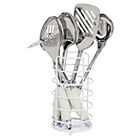 more details on ColourMatch 5 Piece Stainless Steel Utensil Set-Super White.