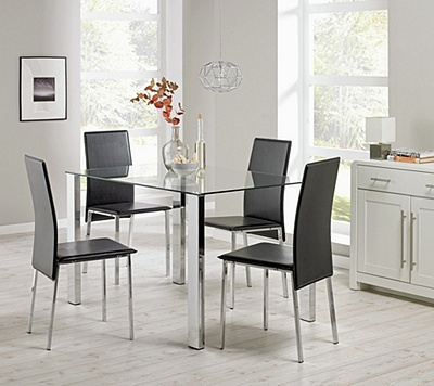 Buy Hygena Fitz Clear Glass Dining Table and 4 Black  : 4829256RZ001Cfmtpjpgampwid570amphei513 from www.argos.co.uk size 570 x 513 jpeg 95kB