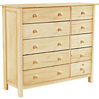 more details on New Scandinavia 5+5 Drawer Chest - Pine.