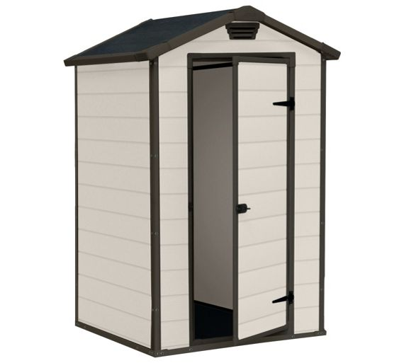 Buy keter designer plastic apex shed 4x3 at for Garden shed 4 x 3