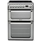 more details on Hotpoint Ultima HUI611 X Freestanding Cooker - S/Steel
