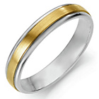 more details on Argentium Silver and 9ct Gold Wedding Ring - 4mm.