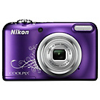 more details on Nikon Coolpix A10 16MP 5x Zoom Compact Camera - Purple.