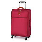 more details on IT Luggage Ultralight Spinner 4 Wheel Suitcase - Red