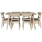 more details on Heart of House Afina Oak Veneer Dining Table & 6 Chairs.