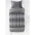 more details on Collection Silver and Black Flock Bedding Set - Single.