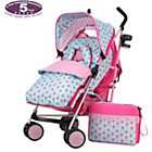 more details on Obaby Zeal Stroller Bundle - Cottage Rose.