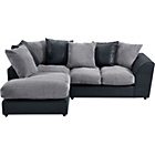 more details on New Bailey Jumbo Cord Large Left Hand Corner Sofa - Charcoal